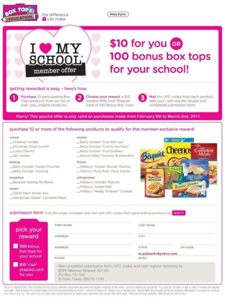 Box Tops Bonus
