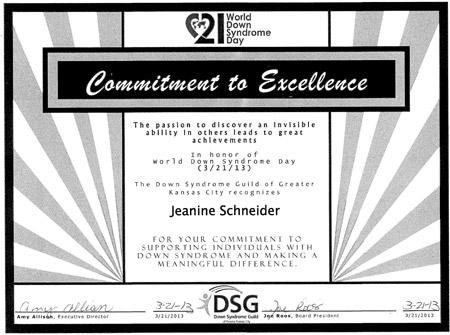 Jeanine Schneider honor