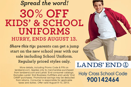 Lands End Sale 0813