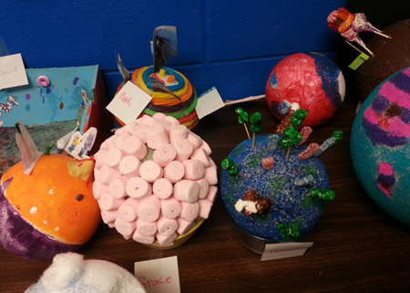5th Graders Create Planets | Holy Cross Catholic School Blog